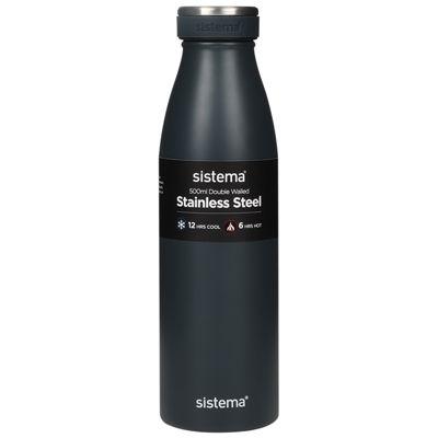 Sistema Stainless Steel Water Bottle - 500ml