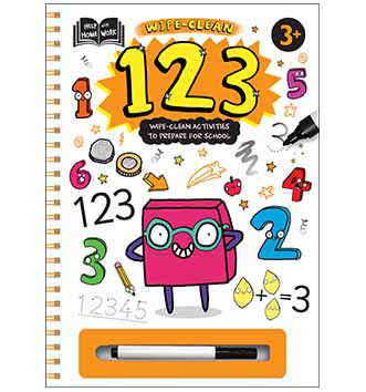 ASDA Wipe Clean 123 Activity Book